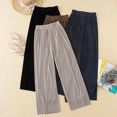 Pantalones casuales doblados súper elásticos NHAM299214's discount tags