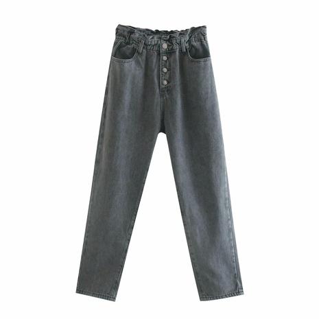 nuevos pantalones retro sueltos de cintura alta NHAM299221's discount tags