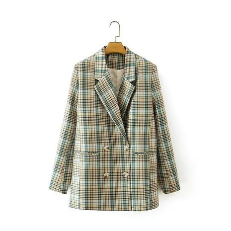 blazer de traje casual con doble botonadura y solapa retro NHAM299265's discount tags