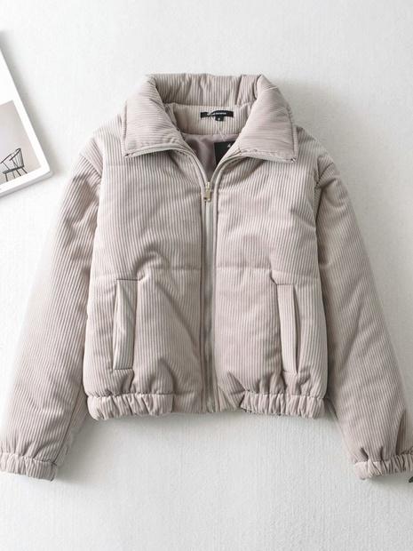 nuevo abrigo de pana francés de manga larga y fino NHAM299270's discount tags