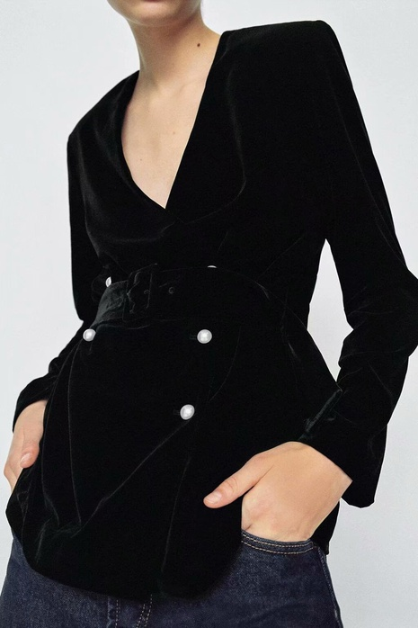 chaqueta de traje con doble botonadura NHAM299281's discount tags