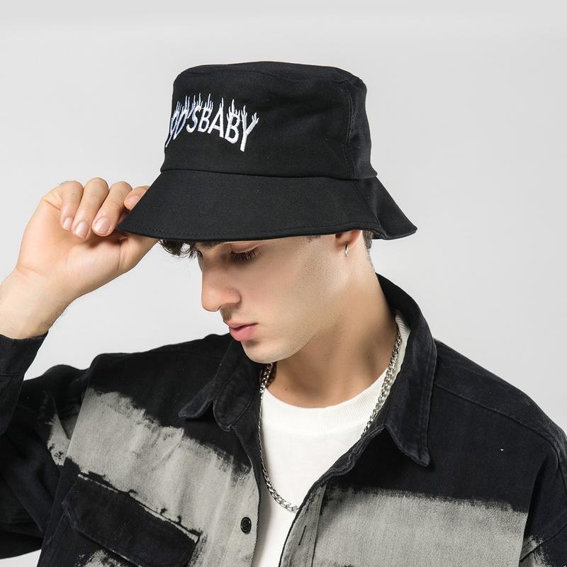 Black fashion trendy  fisherman hat NHTQ299467