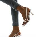 square toe white high heels NHSO299561