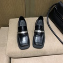 thick sole retro patent leather shoes NHEH299668