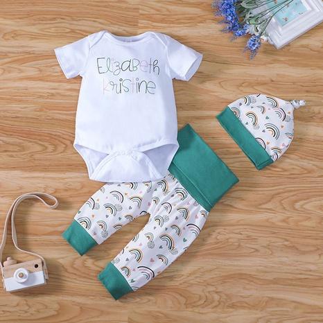 traje de tres piezas de una pieza con mameluco para bebé con letras NHLF299682's discount tags