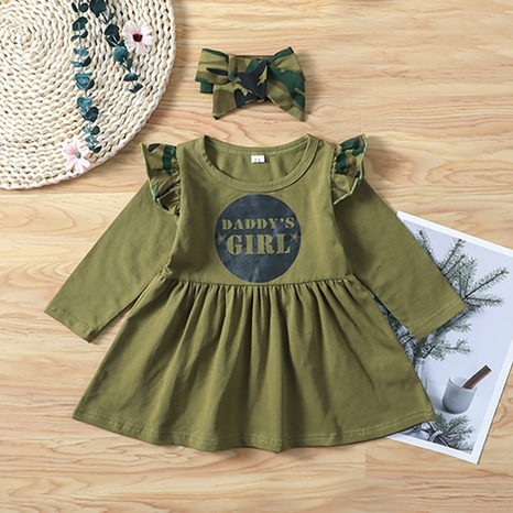 Vestido de manga larga verde bebé NHLF299686's discount tags