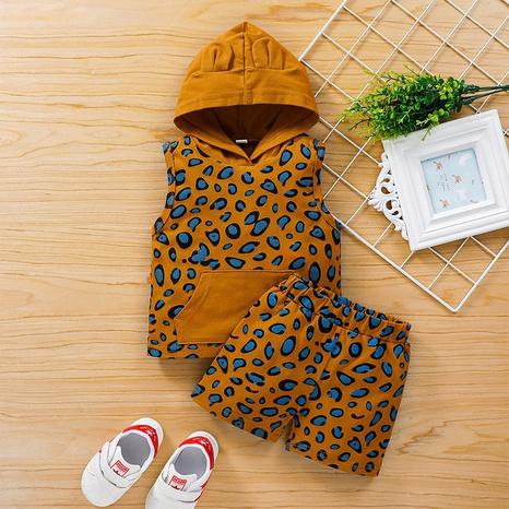 Traje de dos piezas con estampado de leopardo para niños de moda NHLF299689's discount tags