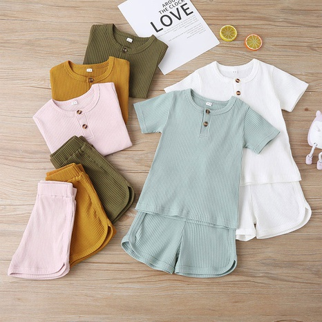 neuer Pit Strip Freizeit Pure Color Kurzarm T-Shirt Top Shorts Anzug NHLF299687's discount tags