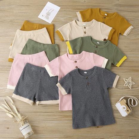 conjunto de pantalones cortos casuales de dos piezas con cuello redondo NHLF299692's discount tags