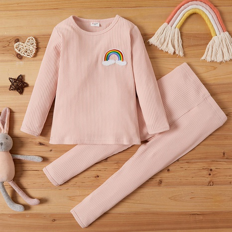 Pure Color Kids Fashion Two-piece Baby Casual Hanging Pullover Set NHLF299693's discount tags
