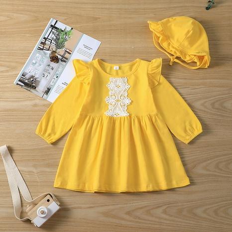 Baby einfarbiges Kleid lässig Mütze NHLF299695's discount tags