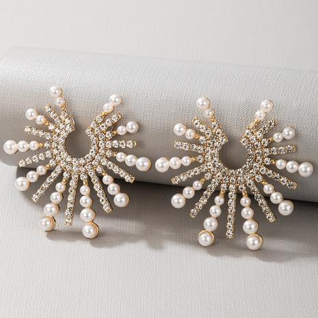 sunflowers  alloys diamonds earrings NHGY299827's discount tags