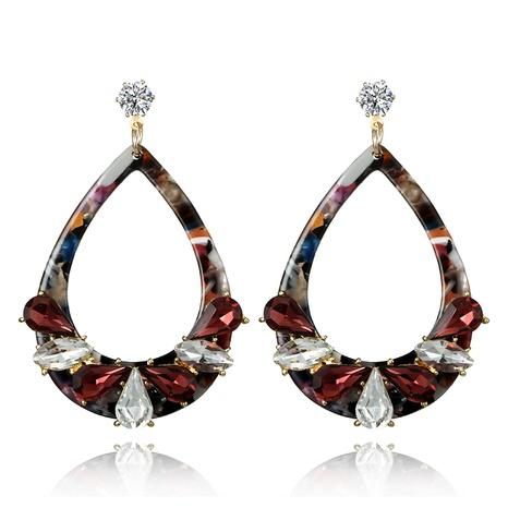 Korean new crystal diamond geometric acrylic long earrings NHGY299814's discount tags