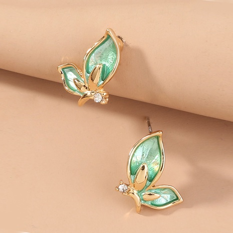 grüne Schmetterling Micro Diamond Ohrstecker NHAN299852's discount tags