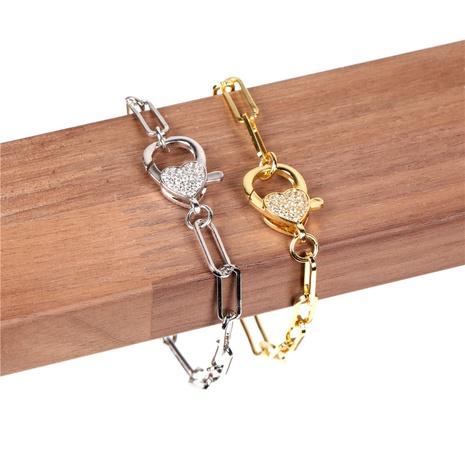 diamond heart buckle bracelet  NHPY299861's discount tags