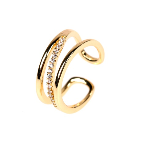 diamond fashion open ring NHPY299862's discount tags