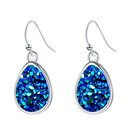fashion crystal water droplets earrings NHAN299907