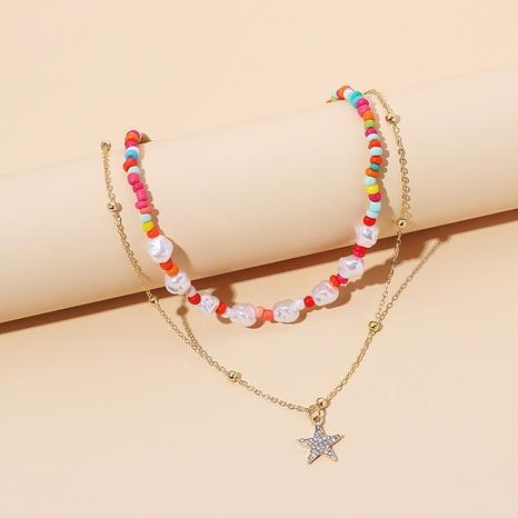 mehrschichtige Perlenkette NHRN299912's discount tags