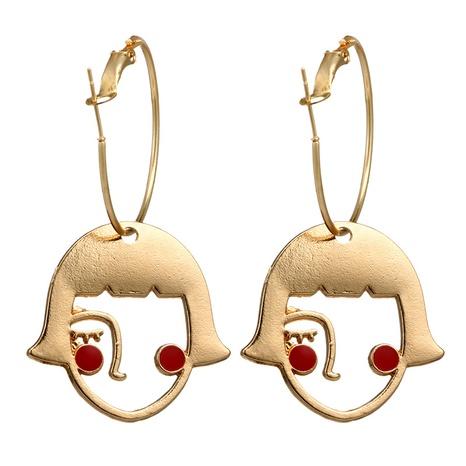 lindos aretes de aleación de ojos rojos NHGY299930's discount tags