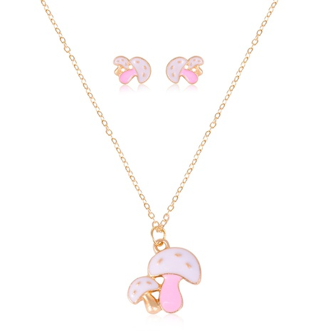 Koreanische neue Mode Pilz Halskette Ohrringe Set NHSD299975's discount tags