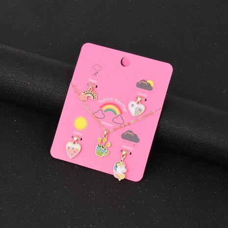 cute sweet flowerpot shape pendant necklace set NHSD299981's discount tags