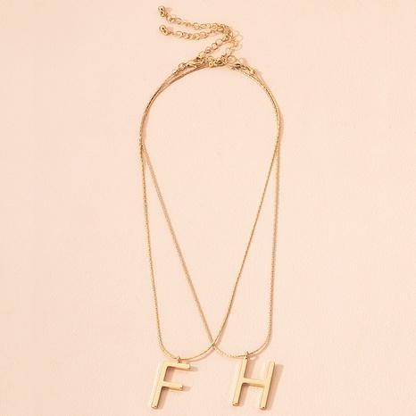collier pendentif lettre FH NHAI299989's discount tags
