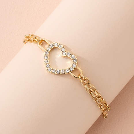 simple diamond heart bracelet  NHAI299995's discount tags