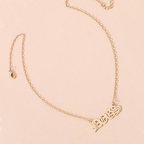 collier à pendentif lettre de mode NHAI299996's discount tags