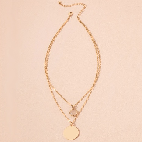 simple gold coin pendant necklace NHAI300000's discount tags
