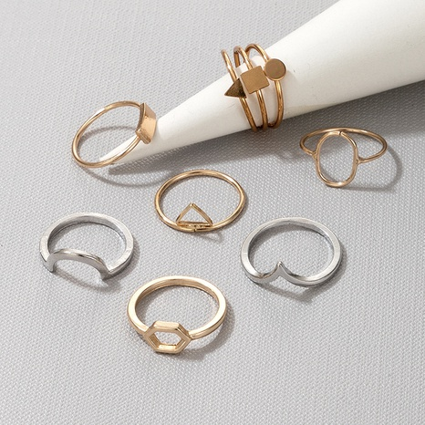 fashion gold and silver ring 7-piece set NHGY300012's discount tags