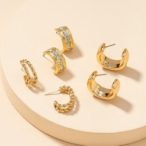 Fashion Metal Basic Ohrringe Set NHGU300031's discount tags