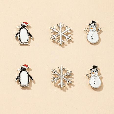 Mode Schneemann Pinguin Schneeflocke Ohrringe Set NHGU300038's discount tags