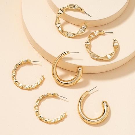 Fashion Metal Basic Ohrringe Set NHGU300053's discount tags