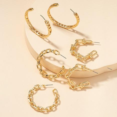 Fashion Metal Basic Ohrringe Set NHGU300054's discount tags