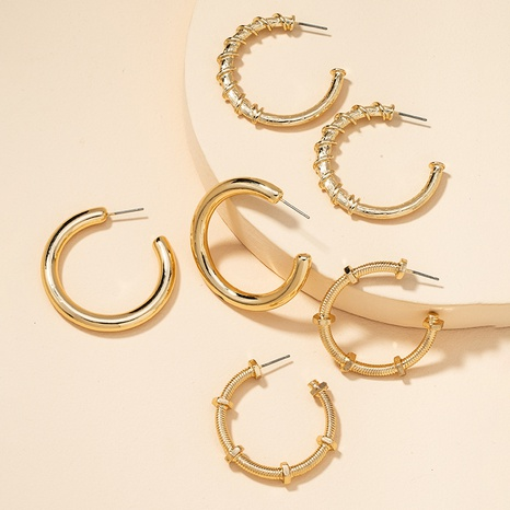 Fashion Metal Basic Ohrringe Set NHGU300055's discount tags