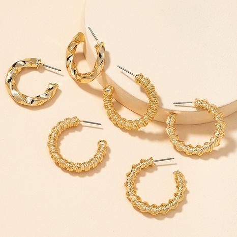 Fashion Metal Basic Ohrringe Set NHGU300056's discount tags