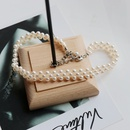 imitation pearl woven necklace  NHOM300067
