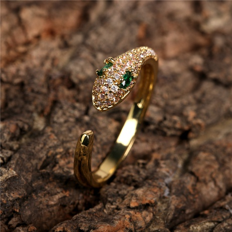 diamond snake-shaped ring  NHPY300075's discount tags