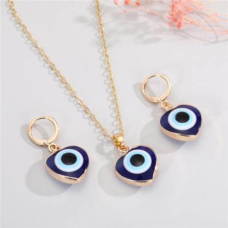 Mode Herz Teufel Auge Ohrringe Halskette NHGO300085's discount tags