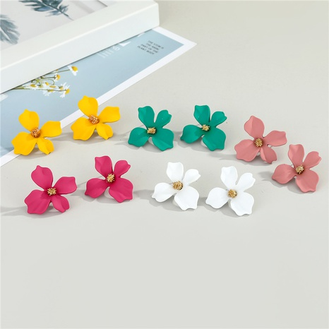 fashion colorful flower earrings NHGO300093's discount tags