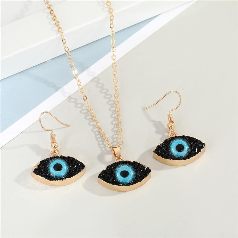 demon eye earrings necklace NHGO300099