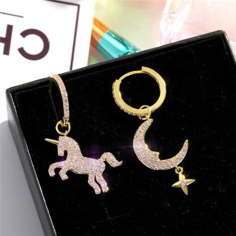 asymmetric diamond-studded earrings NHGO300102's discount tags