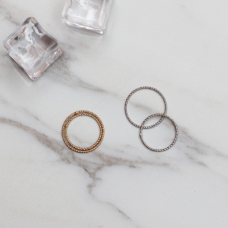 Simple Metal Retro Ring NHRN300107's discount tags