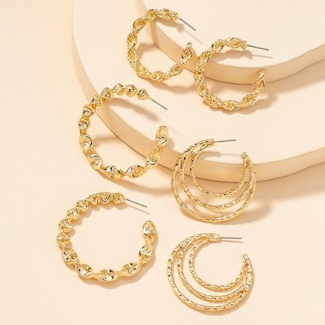 Fashion Metal Basic Ohrringe Set NHGU300149's discount tags