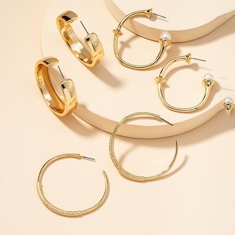 Fashion Metal Basic Ohrringe Set NHGU300150's discount tags