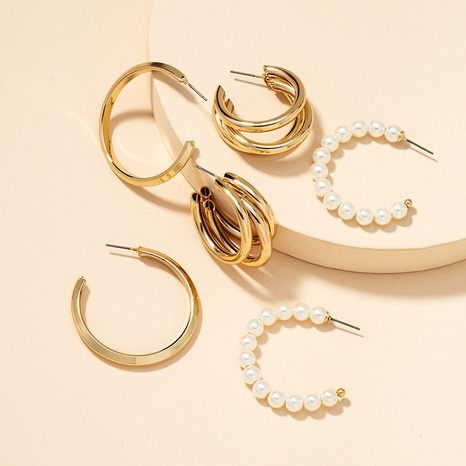 Fashion Metal Basic Ohrringe Set NHGU300151's discount tags
