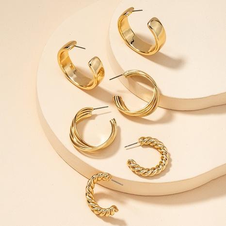 Fashion Metal Basic Ohrringe Set NHGU300152's discount tags