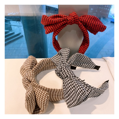 cute and playful houndstooth bow headband  NHHD300186's discount tags