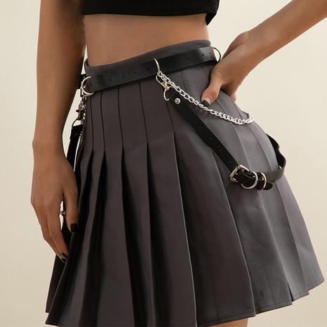 punk tassel PU multi-layer waist chain NHXR300256's discount tags