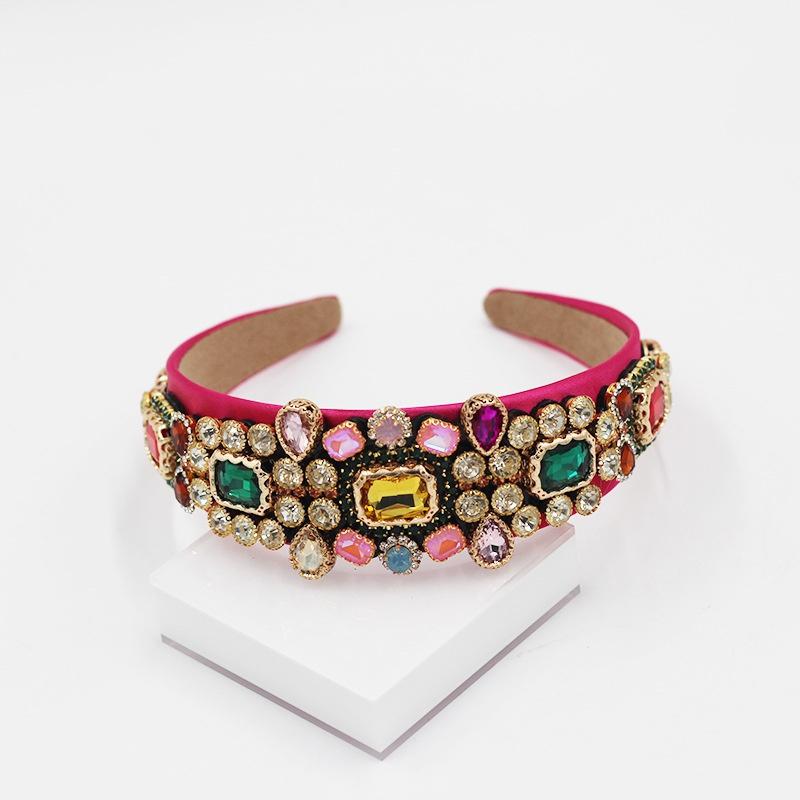 Baroque diamonds colored headband NHWJ300267